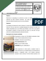 Determinación de carbonato de calcio