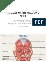 Praktikum Anatomi 3 (Muscle of Head and Neck(1)