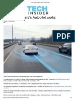 How Tesla's Autopilot Works - Tech Insider