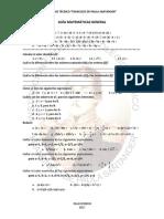 Guía General de Matemáticas