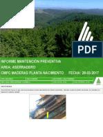Informe de Mantención Prev. 28.03.2017 Aserradero