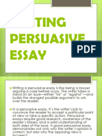 Writing Persuasive Essay