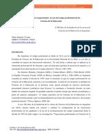 Realidades Socio-ocupacionales. El Caso Del Campo Profesional de Las Ciencias de La Educación.