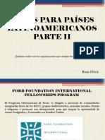 Becas Para Países Latinoamericanos, Parte II
