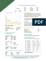Market Update 14th August 2017