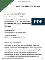 Escala de Evaluación Del Apego en Adultos - Investigación en Chile -Revisión