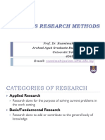 MBABusiness Research Methods