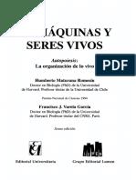 Maturana Humberto Y Varela Francisco - De Maquinas Y Seres Vivos
