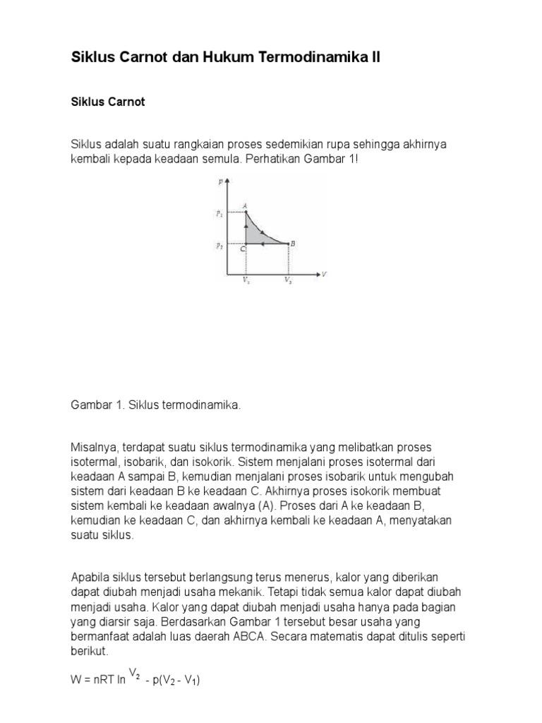 Siklus carnot dan hukum termodinamika ii 1 ccuart Images