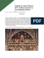 Fresque « Triomphe de Saint Thomas d'Aquin »