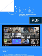 Ionic Hybrid App Day 1