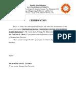 Certification Gramarrian Malma