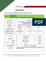 Datasheet of RSM932A|CAS 850807-63-5|sun-shinechem.com