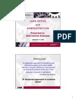Lean Office Presentation