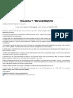 Ministério Bullón Palabra y Procedimiento Ago 15