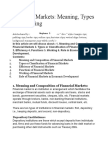 Financial Markets Meaning, Types and Working