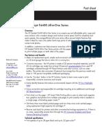 Hp Desk Jet f 4400 Fact Sheet