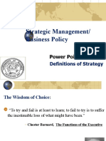 Power Point Set 001_ Definitions of Strategy_Spring 2009
