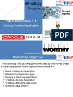 Oracle  PBCS Creating Standard Application