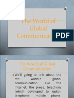The World of Global Communication