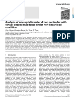 Analysis of Microgrid Inverter Droop Controller With Virtual Output Impedance Under Non-linear Load Condition