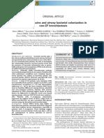 Secreted Mucin Dan Bacterial Kolinisation on Be