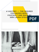 the Desired Colonized Body Foucault and Race by Ann Laura Stoler - The FUNAMBULIST MAGAZINE
