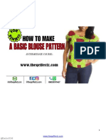 How to Make a Basic Blouse(for Clients)