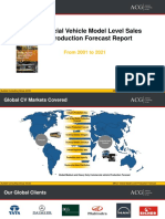 Global CV Model Sales and Production Trend & Forecast 2023