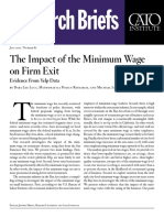The Impact of the Minimum Wage on Firm Exit