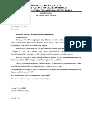 Contoh Surat Edaran Rt06 Kiara Rahayu