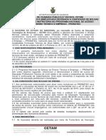Cetam Pronatec-edital Seleção Instrutores - Edital de Chamada Pública Nº002_2016 Cetam-Atual