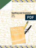 Spelling and Grammar Worksheet