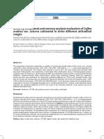 Evaluación de los compuestos minoritarios y análisis sensorial de Coffea arabica var. caturra cultivado en tres diferentes rangos altitudinales