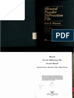 Mineral Power Diffrection File Search Manual