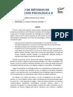 Ensayo de Métodos de Exploración Psicológica II