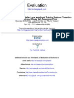 Evaluating the Quality of Italian Local Vocational Training Systems-Towards A