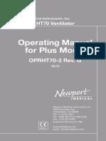 Newport HT70Plus OperatorsManual en OPRHT70-2G00