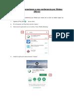 Manual Para Conectarse a Una Conferencia Por Webex(Movil)