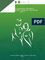 Buku Panduan Peserta Abang None Jakarta Selatan 2017