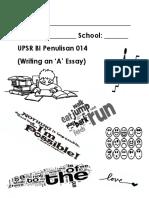 Writing an 'a' Essay