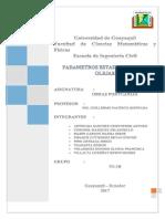 Parametros Estadisticos Del Oleaje