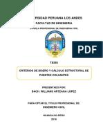 Criterios de Diseño y Cálculo Estructural De Puentes