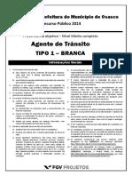 Fgv 2014 Prefeitura de Osasco Sp Agente de Transito Prova