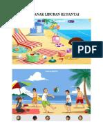 Anak Anak Liburan Ke Pantai