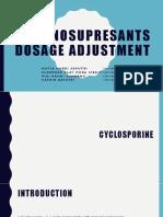 Immunosuppresants Dosage Adjustment