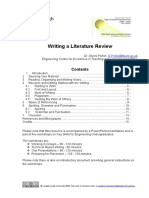 Writingaliteraturereviewhandout Oeredit 100505085659 Phpapp02