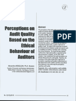 18 - Perception on Audit Quality Based on the Ethical Behaviour of Auditors