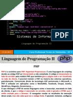 3.1 - Linguagem de Programação II - PHP
