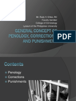 General Concept of Penology Corrections and Punishments